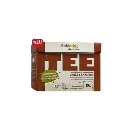 "Zestaw herbat Premium ""Chai & Chocolate – Chai & Czekolada"" - luksusowe BIO herbaty ekspresowe"