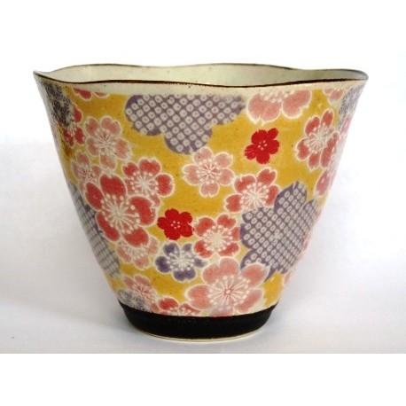 Japońska czarka kubek do herbaty Yuzuki żółta 200ml