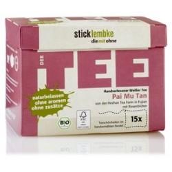 Zestaw herbat Premium Pai Mu Tan - Biała Herbata z płatkami róży - luksusowe BIO herbaty ekspresowe