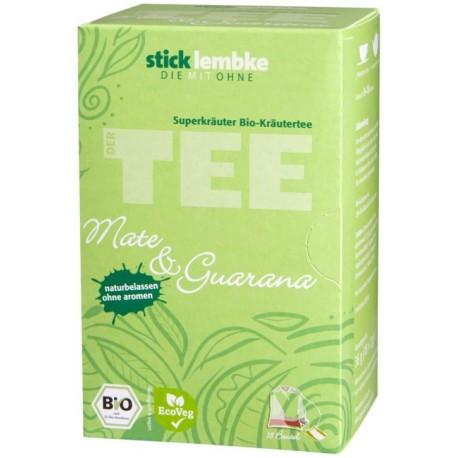 Herbata ekspresowa mate guarana werbena pokrzywa liście jeżyny dzika róża trawa cytrynowa skórka cytryny bio ORGANIC cena sklep
