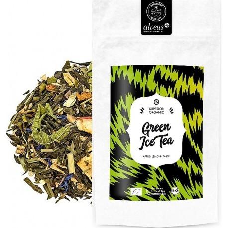 ALVEUS herbata BIO ORGANIC Green Ice Tea Sencha imbir kawałki jabłka sklep cena