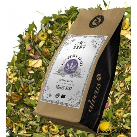 ALVEUS herbata Hemp Tea Camomile konopie rumianek rooibos koper imbir moringa lawenda kwiaty róży sklep cena