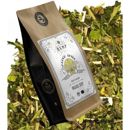 ALVEUS herbata Hemp Tea Lemon mate liście konopii moringa skórka cytryny granat guarana korzeń macy sklep cena